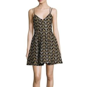 Alice + Olivia Black Marilla Cocktail Dress